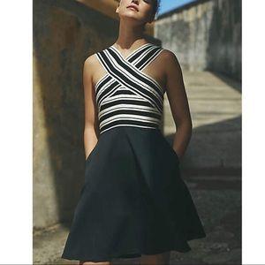 NWOT Anthropologie Maeve Crosswise Flare Dress